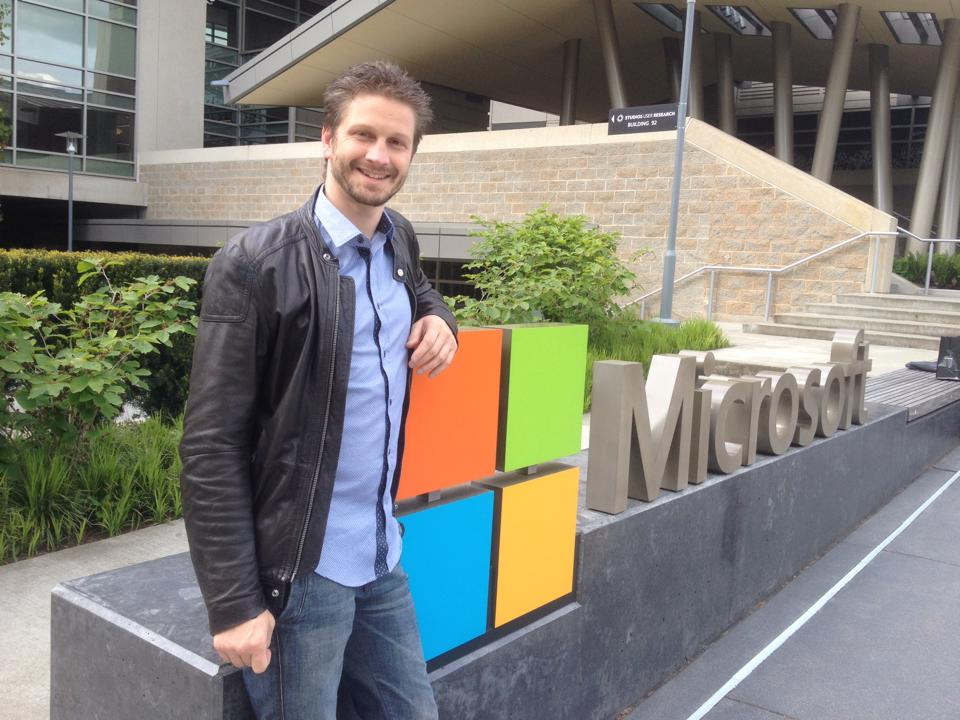 Koen Timmers in Redmond, at Microsoft HQ